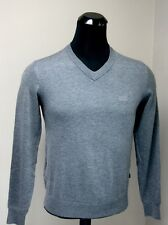 NEW AUTHENTIC BOSS HUGO BOSS M Size GRAY WOOL V-NECK SWEATER