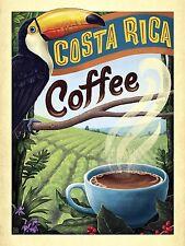 Costa Rica Café, Rétro Vintage métal signe, CAFE, cuisine