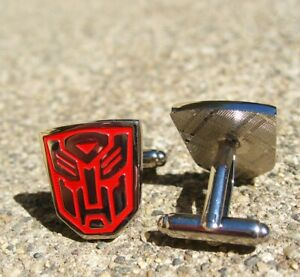 Transformers Silver Plated and Red Cufflinks – Wedding, Father's Day, Birthday
