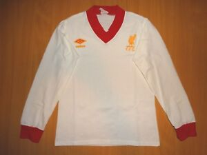 RARE LIVERPOOL ENGLAND 1979 1982 UMBRO LONG AWAY FOOTBALL SHIRT VINTAGE S