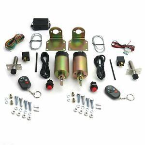 Shaved Handle Door Popper 2 Door Kit 85 lb w/Remote hot rod muscle rat pickup