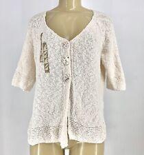 Lulu B Women Cardigan Sweater Sz L Embellished 3 Buttons #3