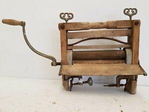 Antique Anchor Brand Hand Crank Clothes Wringer, Circa 1896, Good Housekeeping