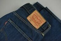 LEVI STRAUSS & CO. 501 ORIGINAL Men's W33/~L31* Straight Dark Blue Jeans 21655-S