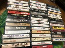 Country Cassette Tape 43 Lot - Alabama Vince Gill Alan Jackson Strait Trisha Etc