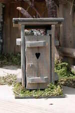 Krippenzubehör -WC - Klohäuschen ( nostalgisch) Holz- gebeizt  -   Handarbeit !