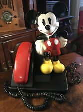 Vintage WALT DISNEY MICKEY MOUSE AT&T Landline Telephone Red Nice!