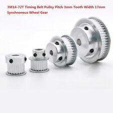 3M 14T-72T Timing Belt Pulley Pitch 3mm With Step Bore4-20mm For 15mm Width Belt