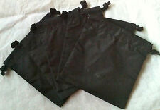 """5 x Authentic CHANEL Signature Small Drawstring Gift Bag Pouch Black 5"""" 14cm Lot"""