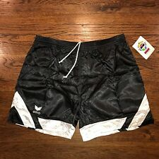 NEW Black White Striped ERIMA Mens XL Soccer Nylon umbro vtg 80s 90s shorts NWT