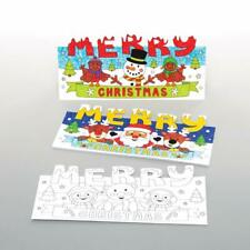 Make Your Own 3D COLOUR IN Kids Xmas Cards POP UP Santa Snowman Reindeer Crafts