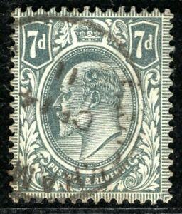 GB KEVII Stamp SG.249 7d Grey-Black DLR Super 1911 CDS Used Cat £22+25% ORED114