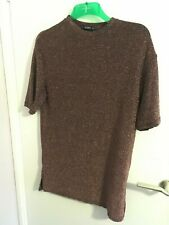 PULL AND BEAR BRONZE GLITTERY Long Top/Dress PREOWNED SIZE S