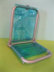 2000 TERESA BARBIE DOLL-Rain or Sun Blue plastic Vinyl BEACH CHAIR BACKPACK STYL