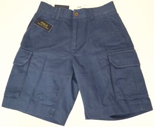 Polo Ralph Lauren Relaxed Fit Shorts Mens Blue Cotton Chino NWT NEW $79