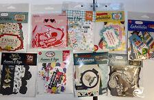 Echo Park, CARTA Bella And My Minds Eye- 9 Brand New Ephemera Packs- Scrapbook