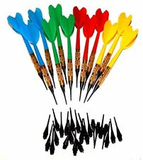 Soft Tip Brass House Darts - Set of 12 With 24 Free Replacement Tips