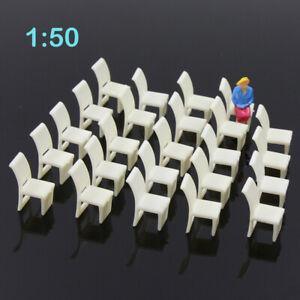 ZY10050 24pcs Model Railway Layout O Gauge 1:50 Leisure Chair Settee Bench
