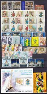 Vaticano 2000 Annata completa 42 valori, 1 foglietto, 1 libretto nuovi MNH**