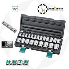 "Socket Set 1/2"" 22pcs 10-32mm HONIDRIVER Tech CrV Steel Honiton H4022"