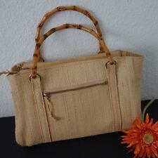 Bast Tasche Handtasche Bast Bambus Bügel VEB - DDR OSTALGIE - 70er