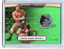 WWE David Hart Smith GREEN Topps Platinum 2010 Event Worn Relic Card SN 217/399