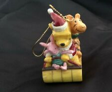 Disney Classic Winnie the Pooh Tigger Piglet on Sled MCF Christmas Ornament