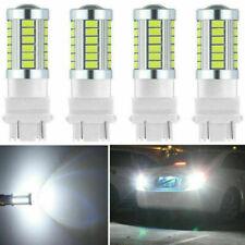 4x Super White 3157 3156 33 SMD LED Light Bulbs Tail Brake Stop 5630 3157A 6000K