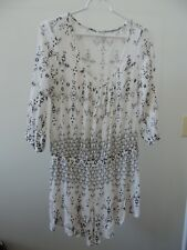 Womens Size Large  * RIPCURL *  White Printed Dressy Romper T-22 1-Pc Shorts