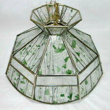 Vintage Stained Glass Hanging Pedestal Light / Lamp Shade Tiffany Style