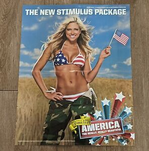 "KELLY KELLY The NEW Stimulus Package WWE Diva Wrestling Poster 21"" x 16"" RARE"