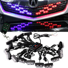 LED Red Blue Car Truck Wireless Strobe Emergency Warning Lights Deck Dash Grill