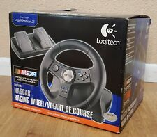 New Logitech Nascar Racing Wheel/Volant De Course for Playstation 2