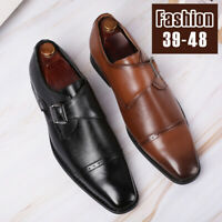 Men Formal Dress Oxfords Leather Shoes Slip On Pointed Loafers Moccasins Wedding