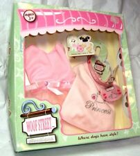 Woof Street Boutique Pet Outfit New/Box Tutu Dress T-shirt Collar w- ID Tag JEMS
