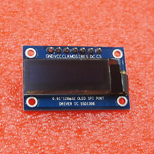 "0.91"" SSD1306 128X32 SPI OLED Module White Graphic Display for DC 3.3-5V L1ST"