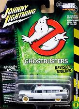 '59 Cadillac Ambulance pre LECIO GHOSTBUSTERS WHITE 1:64 Johnny Lightning jlss 005