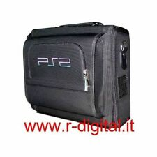 BAG BLACK PLAYSTATION 1 2 CONSOLE SHOULDER STRAP CD BOX DVD WIRES POWER SUPPLY