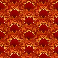 Fabric #2449 Orange Rust Arcs with Points Jason Yenter ITB Sold by 1/2 Yard