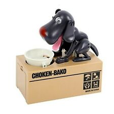 My Puppy Dog Electronic Coin Piggy Bank Eats & Saves Money Box Black New