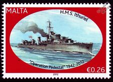 HMS ITHURIEL (H05) I-Class Destroyer Warship WWII Malta Convoys Stamp