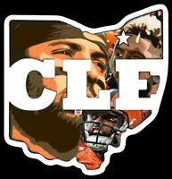 Vinyl MAGNET Ohio Baker Mayfield Odell Beckham Jr OBJ Cleveland Browns Custom