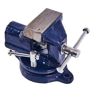 Revolving Small Vice 50mm Swivel Table Top Bench Rotating Base Flat Clamp Grip