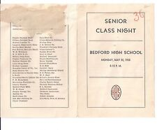 1938 BEDFORD HIGH SCHOOL Senior Class Night ASHBY WHORLEY Douglas Padgett