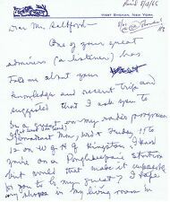 """Two-Page Autograph Letter Signed By Mary Margaret Mcbride """"First Lady of Radio"""""""