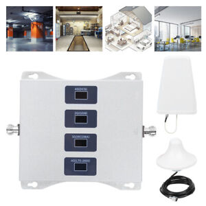 4 Band Phone Signal Amplifier Booster Repeater Antenna Set 4G 2600MHz 3G 2100Mhz