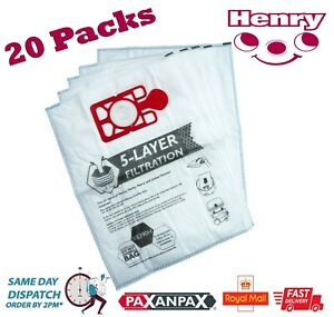 Numatic Henry Hetty Hoover Vacuum Cleaner Microfibre Dust Bags x 20