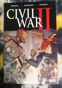 CIVIL WAR II #1 premier partial sketch retail variant (2016) Marvel Comics - NM