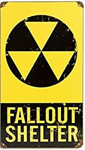 Fallout Shelter rusted steel sign 360mm x 200mm (pst)