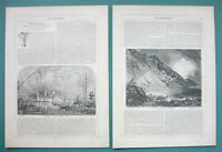 JAMES PYNE British Artist Biography - 1856 Article + Illustrations